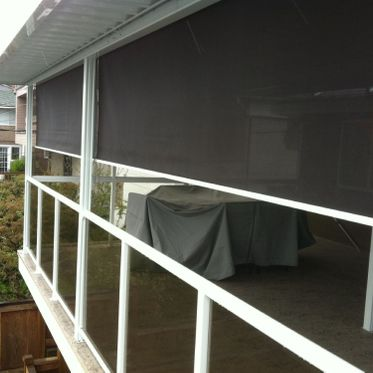 exterior roller shade patio